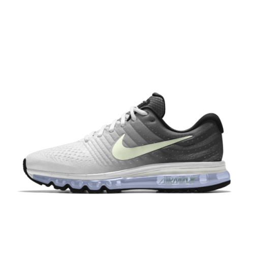 detailing 1317d 013a4 Nike Air Max 2017 iD Grey White Black Men's Shoes | Nike Air ...