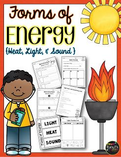 Forms of Energy Set with Heat, Light, and Sound {Grades 1, 2, 3 ...