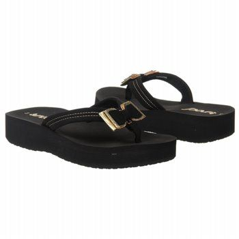f770faf60254 Reef Sweet Bow Sandals (Black Gold) - Kids  Sandals - 17.5 M