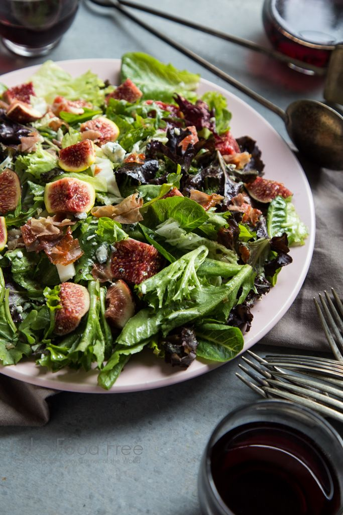 Crispy Prosciutto Fig Salad With Lemon Chive And Honey
