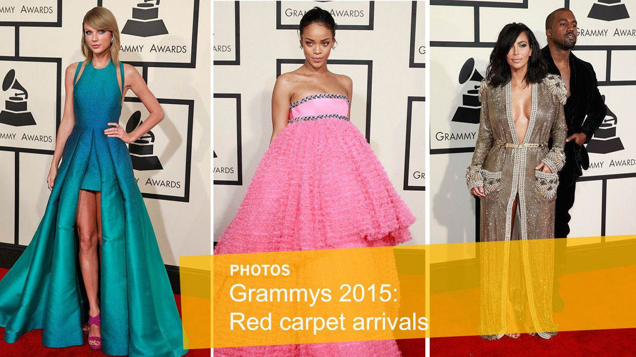 Grammys 2015: Red carpet arrivals  Click through to see photos from the red carpet at the 57th Grammy Awards.  http://www.latimes.com/entertainment/music/la-et-ms-grammy-awards-2015-red-carpet-photogallery.html