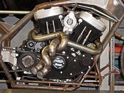custom motorcycle exhaust arc