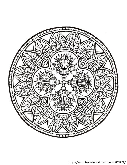 Dover coloring book mystical mandala coloring book 0028 540x700 271kb