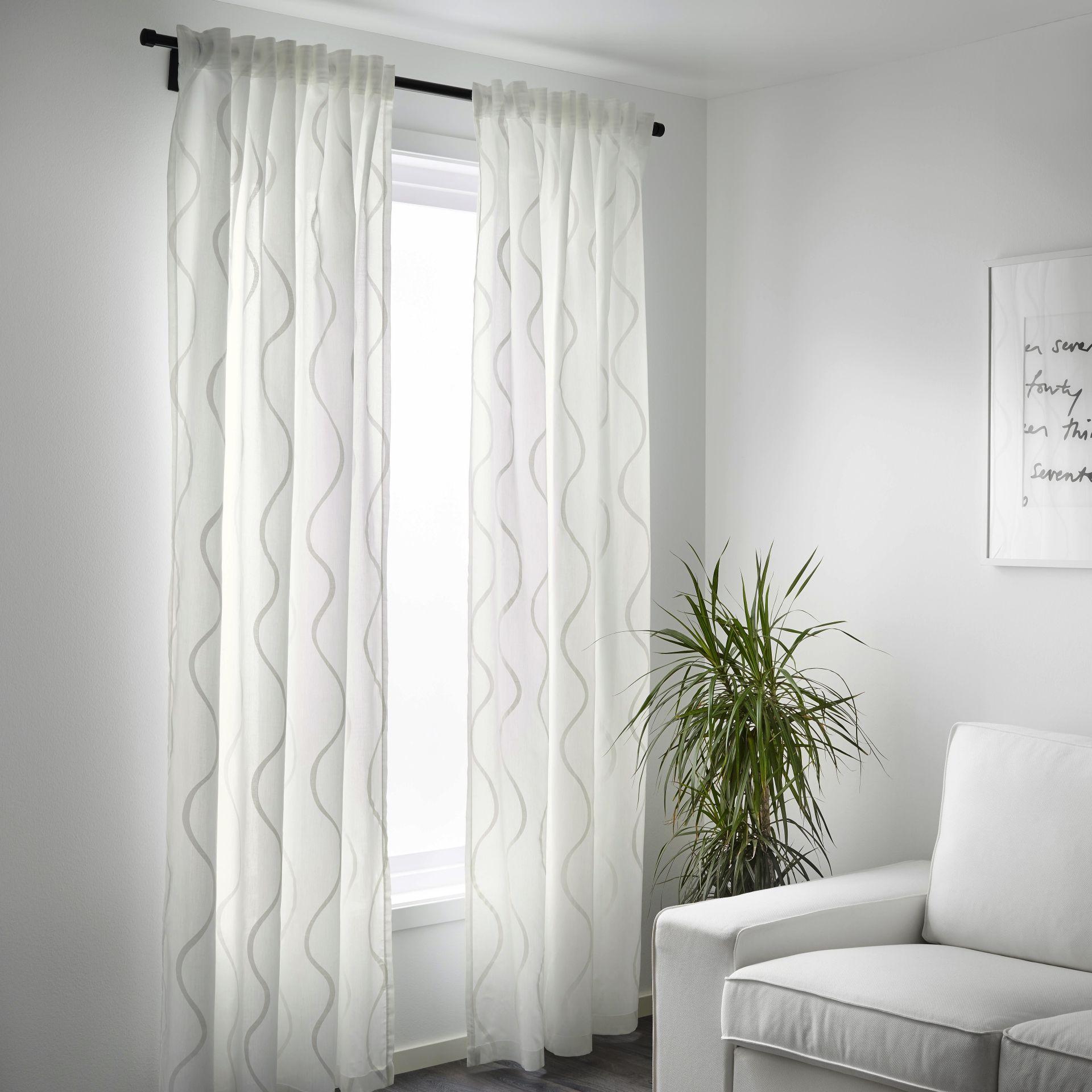 HILLMARI Gordijnen, 1 paar, wit | slaapkamer | Pinterest | Living ...