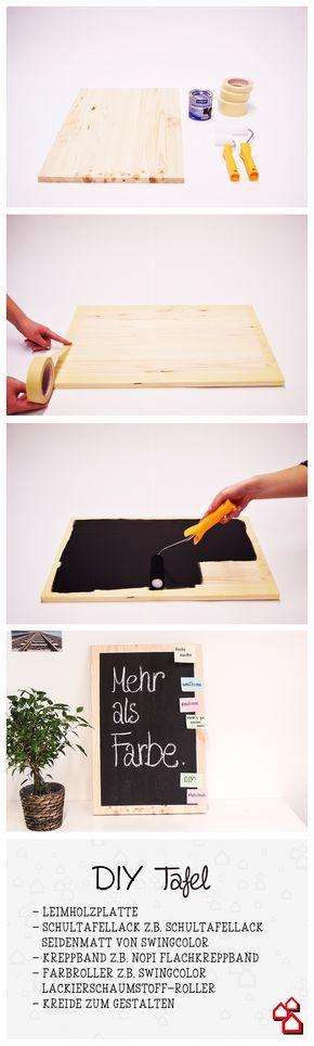 Kreidetafel selber machen? Geht ganz einfach mit unserem Tafel DIY. :) #gesso