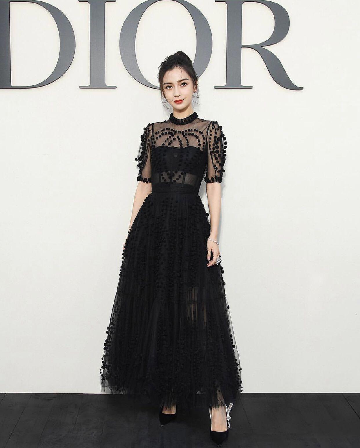 03dfd4f4fcc Angelababy at the Spring   Summer 2019 Dior Runway Show during Paris Fashion  Week
