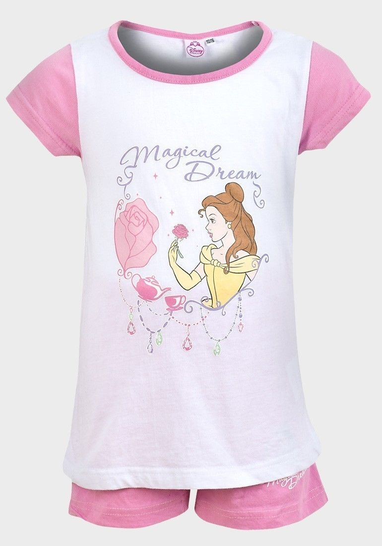 Disney Princess Belle Top T Shirt Shorts Pyjamas Pj s Pj Age 5 6 7 8 Free d212c45fe