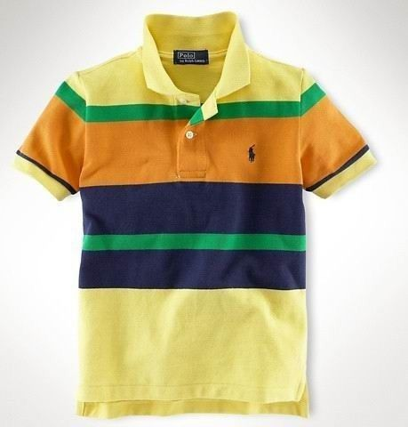 Men's Ralph Lauren Polo Classic-Fit Multi-Striped In Yellow,#polo shirts