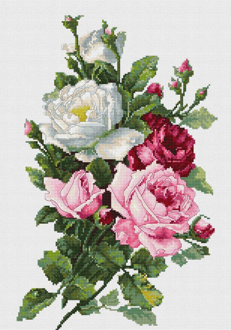 Ramo De Rosas Rosas Pinterest Cross Stitch Stitch Y Cross