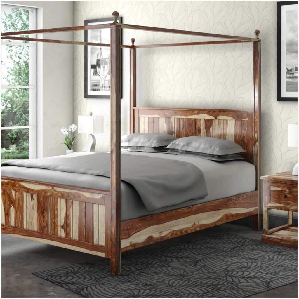 Canopy Beds Surround Yourself With Beauty Wood Canopy Bed Platform Canopy Bed Wood Canopy