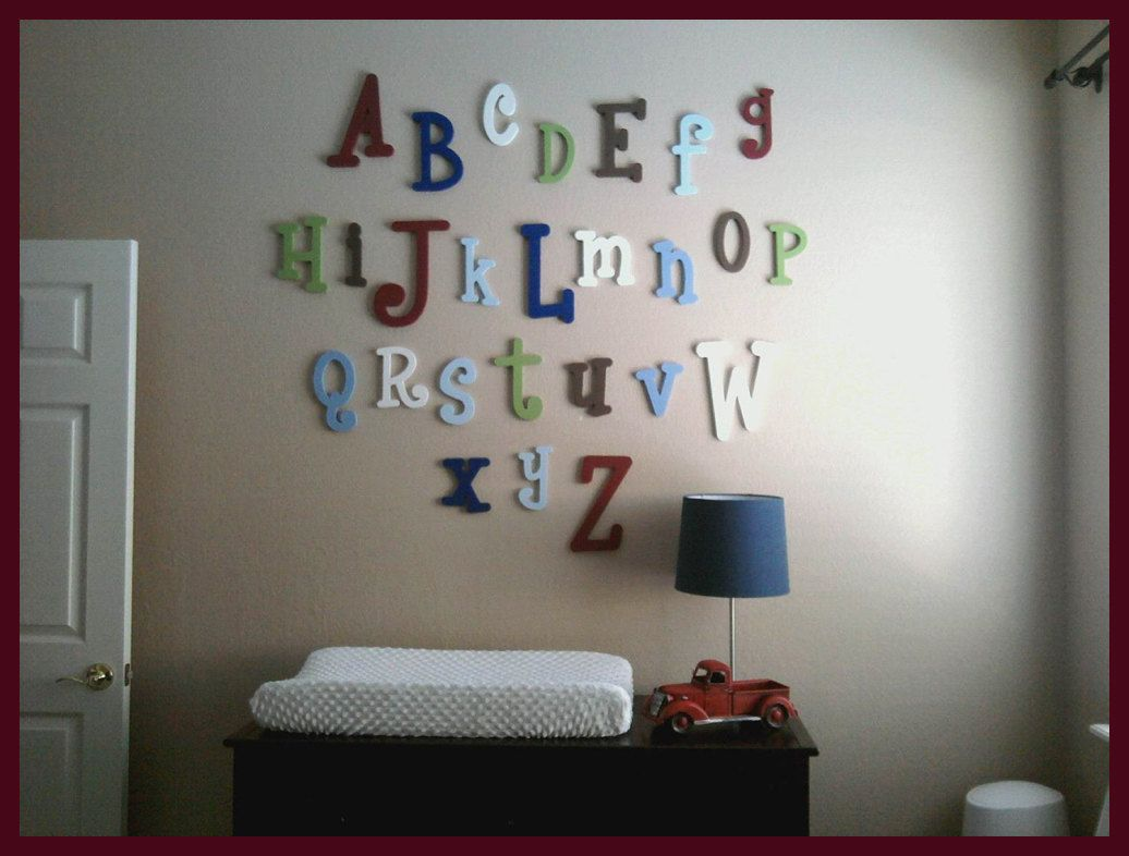 Painted Wood Wooden Alphabet Letter Set   To Letters  ABC Wall   Wood  Letters Child Room Nursery Decor  Hanging Wooden Wall Letters
