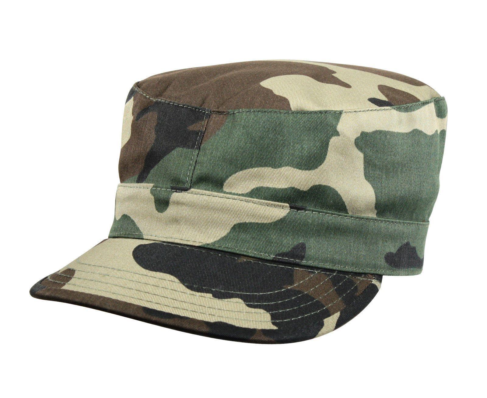 cb697ea56 Men's Military Style Caps - Camo Rip-Stop Cotton Fatigue Cap Fitted ...