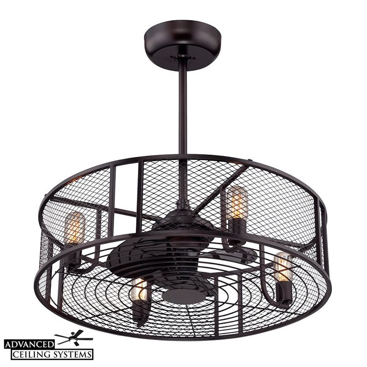 8 Eye Catching Cage Enclosed Ceiling Fans You Ll Love Ceiling