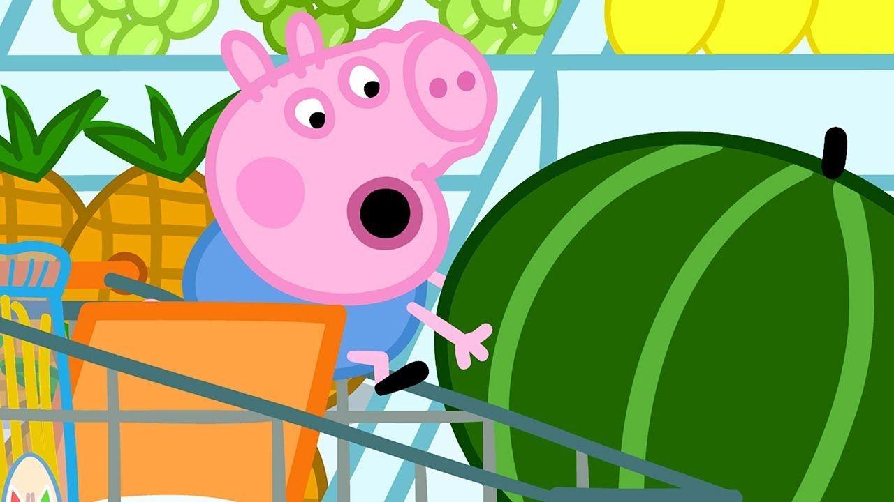 reputable site 7890f 96a27 Peppa Pig Italiano   George e il gigante Anguria!   Cartoni ...