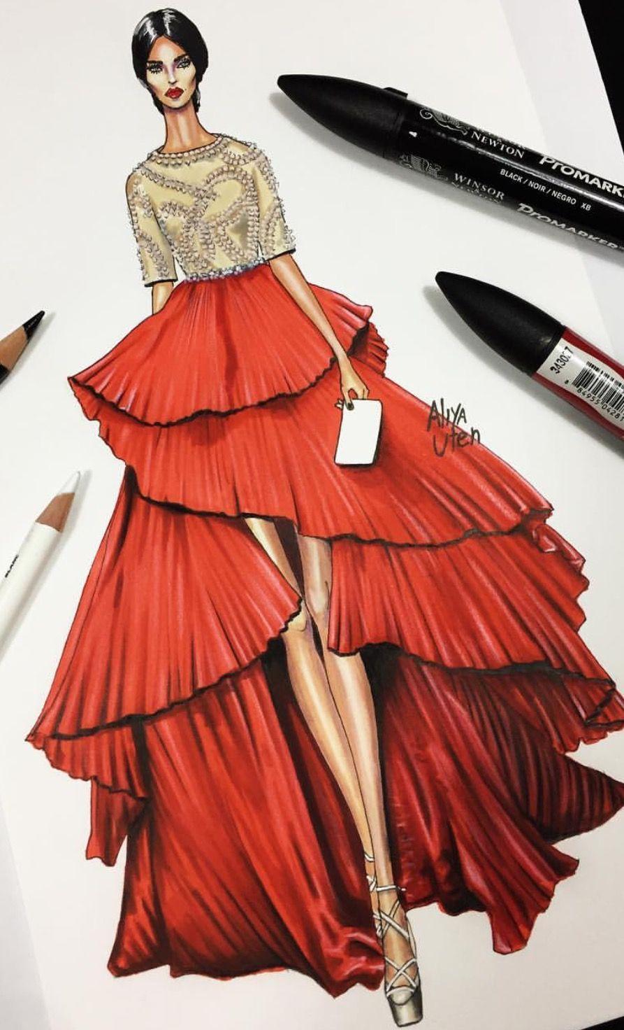 Vestido de falda en espiral