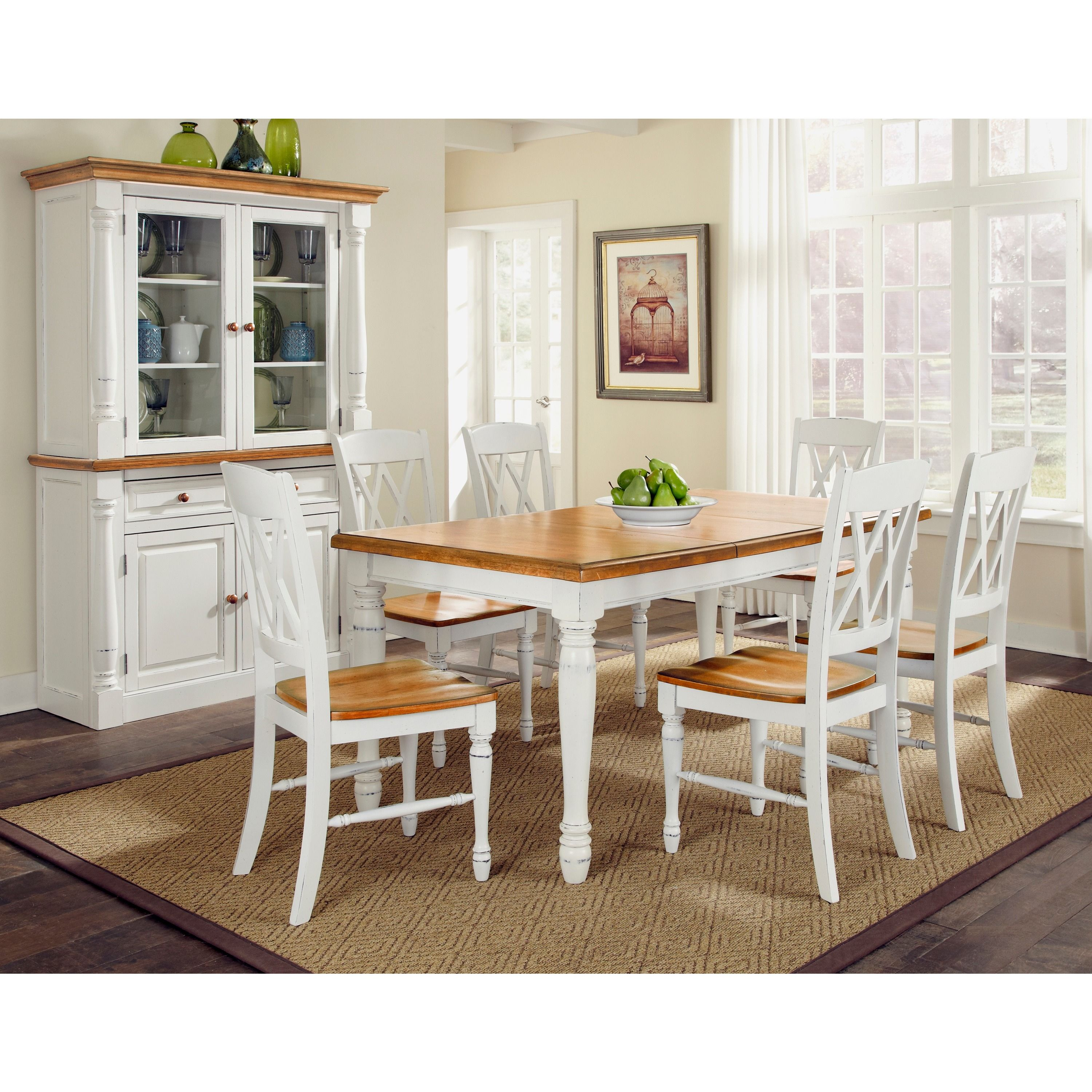 Home Styles Monarch Dining Table And Chairs Rectangular Set White Size 7 Piece Sets