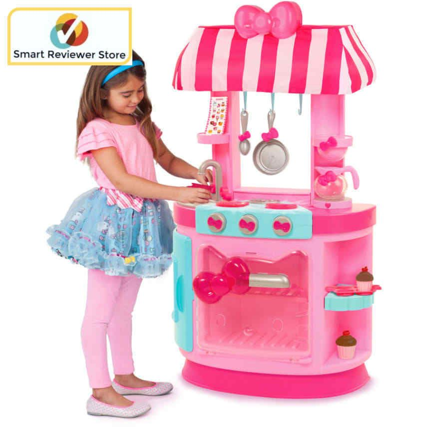 Hello Kitty Kitchen Cafe Girls Play Set With Accessories Lights