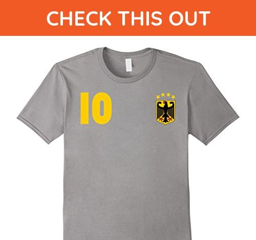 106d8c52c Mens German Football Team Jersey Germany Soccer Team Tee Shirt Medium Slate  - Sports shirts (