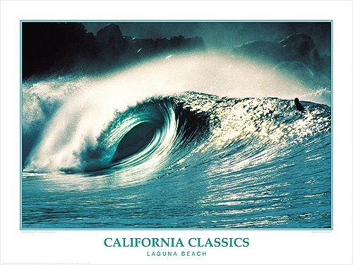 Surfing Laguna Beach California Classics Poster Print Creation Captured Surf Poster Laguna Beach California Surfing Photos