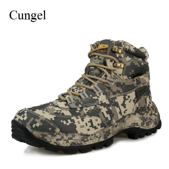 ca3cc62274c Cungel Winter/Autumn Outdoor Hiking Shoes Sneakers Men waterproof ...