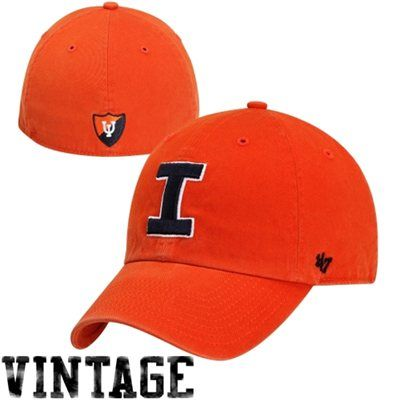 e8b5dc77fb5a6  47 Brand Illinois Fighting Illini Vault Franchise Fitted Hat - Orange.