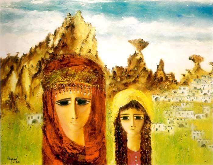 Surmeli Gozlu Anadolu Kadinlari Ile Sanatci Fikret Otyam Sanatcilar Sanat Resim