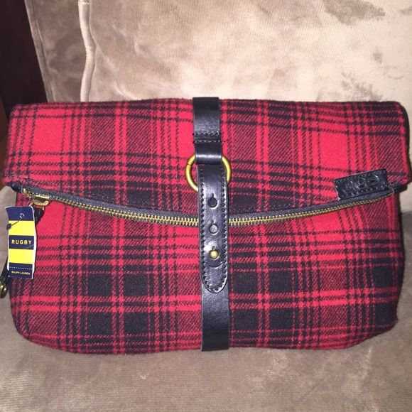 4288b1668ae Ralph Lauren Rugby Red and black clutch bag Ralph Lauren Rugby Red and  black plaid wool clutch bag. Rugby Bags Clutches   Wristlets