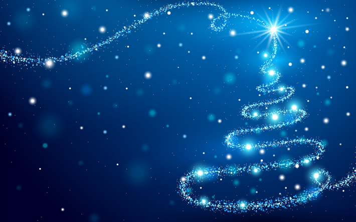Download Wallpapers Neon Christmas Tree New Year Blue Christmas Background Concepts Besthqwallpapers Com Christmas Wallpaper Backgrounds Christmas Background Blue Christmas Background