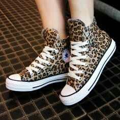 fashion, Leopard print converse, Shoes