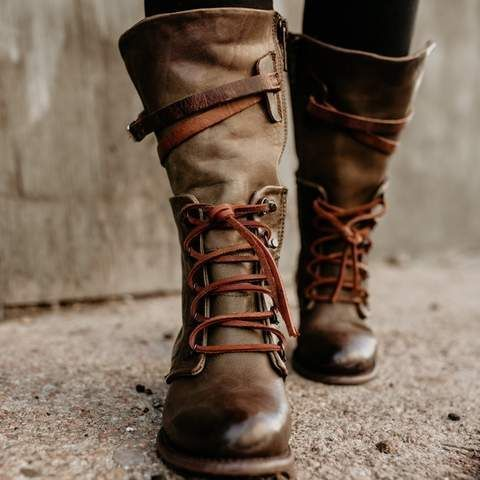 4c1ec0a10d227 womens freebird by steven Ravi olive front lacing inner zip closure mid  calf boot #midcalfboots