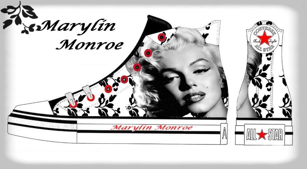 Marilyn Monroe Converse   Marylin Monroe Converse by nyuszifulecske on DeviantArt