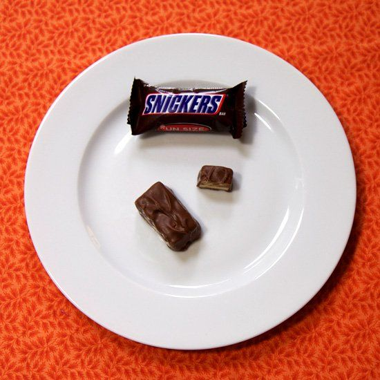 Since portion control and moderation are both key when enjoying Halloween candy, here's a little visual to help you see exactly what 100 calories of your favorites looks like.