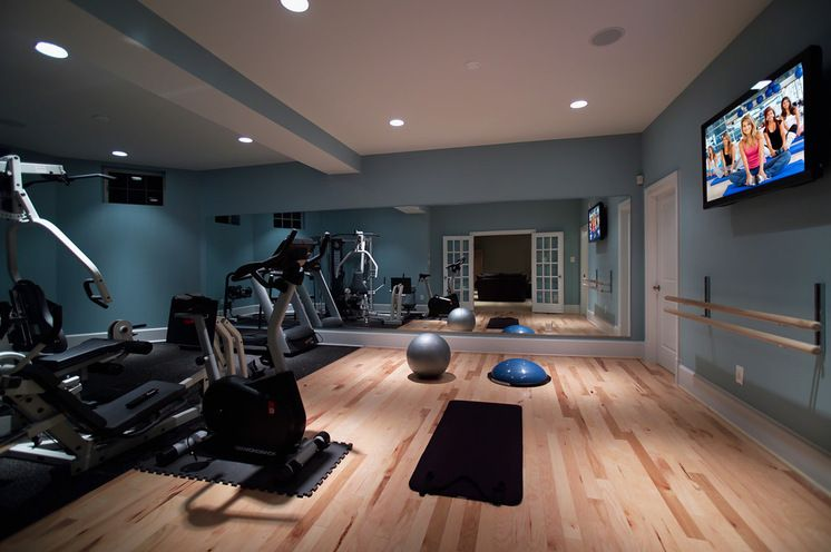Any shade of blue will visually keep your gym from feeling too