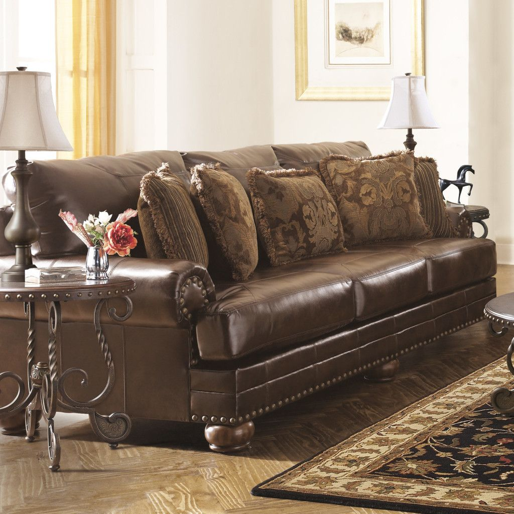 Leather · Leather Tapestry Sofa Photo