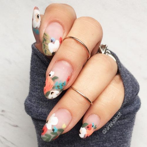 24 Cute Designs For Oval Nails To Rock Anywhere #nailart