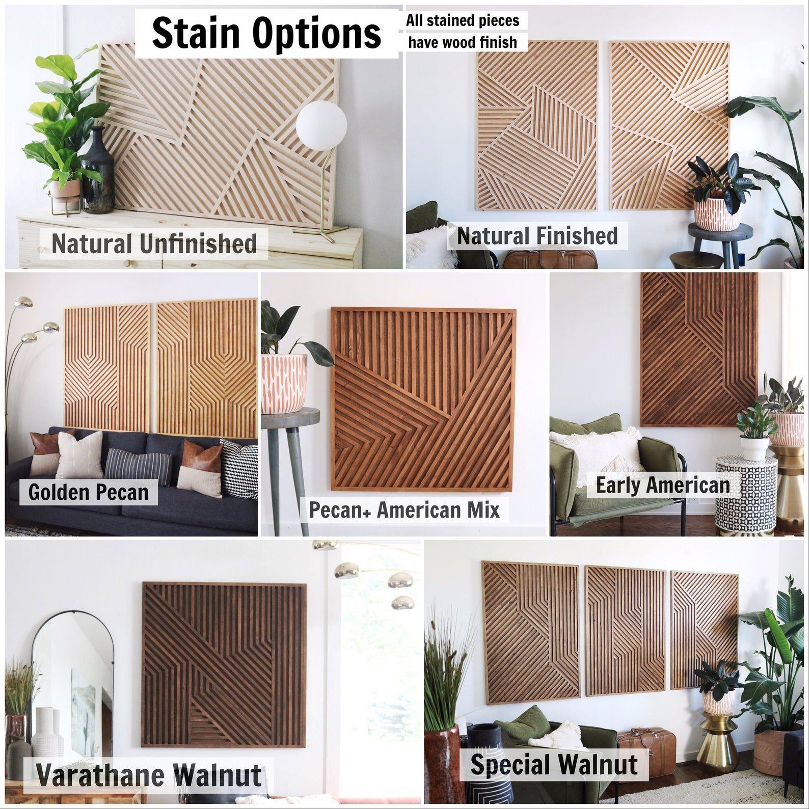 6 Rustic Decor Ideas To Turn Your Bathroom Around: Light Wood Modern Wood Art Geometric Art Geometric Wood In