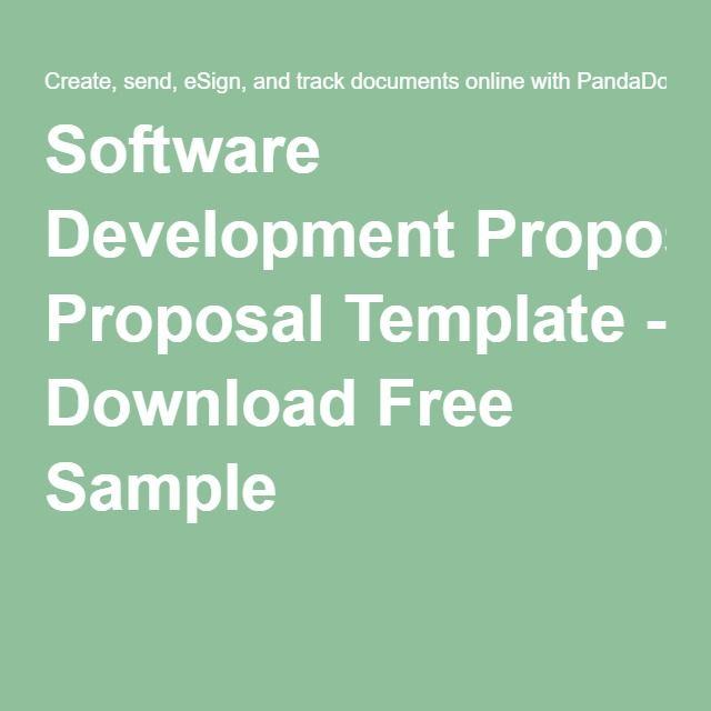 Software Development Proposal Template Download Free Sample
