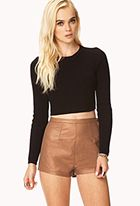 High-Waisted Faux Leather Shorts #RiverwalkNOLA
