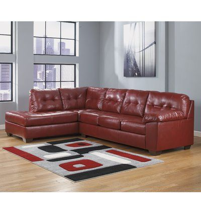 Red Barrel Studio Bellville Sectional Upholstery: Red