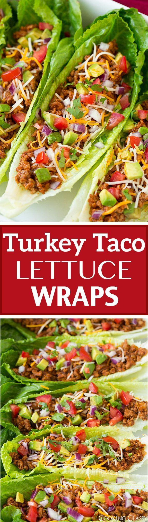 Turkey Taco Lettuce Wraps   Recipe   Tacos, Wraps and Classic