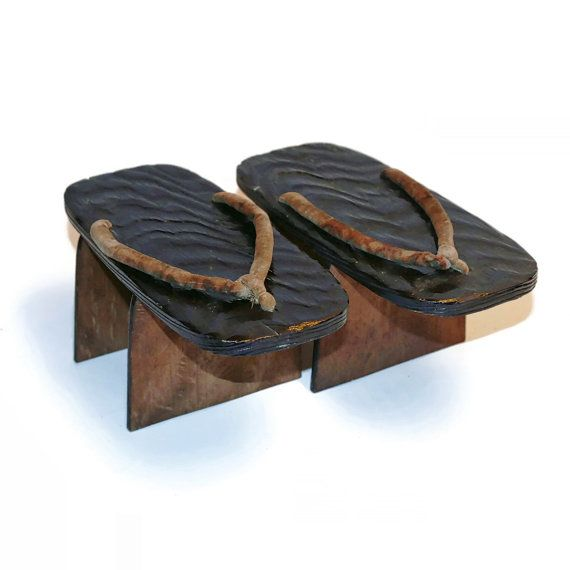 9112201fac887 Antique Japanese Rain Shoes Ama Geta Wood Sandals by ...