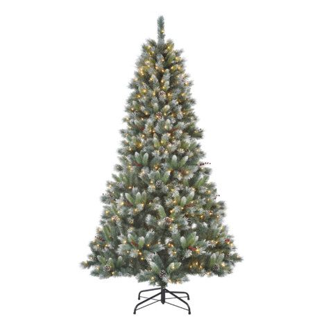 Find The 7 Ft Pre Lit Frosted Pine Tree At Mills Fleet Farm Mills Has Low Prices And A Great Sel Frosted Christmas Tree Christmas Tree Pre Lit Christmas Tree