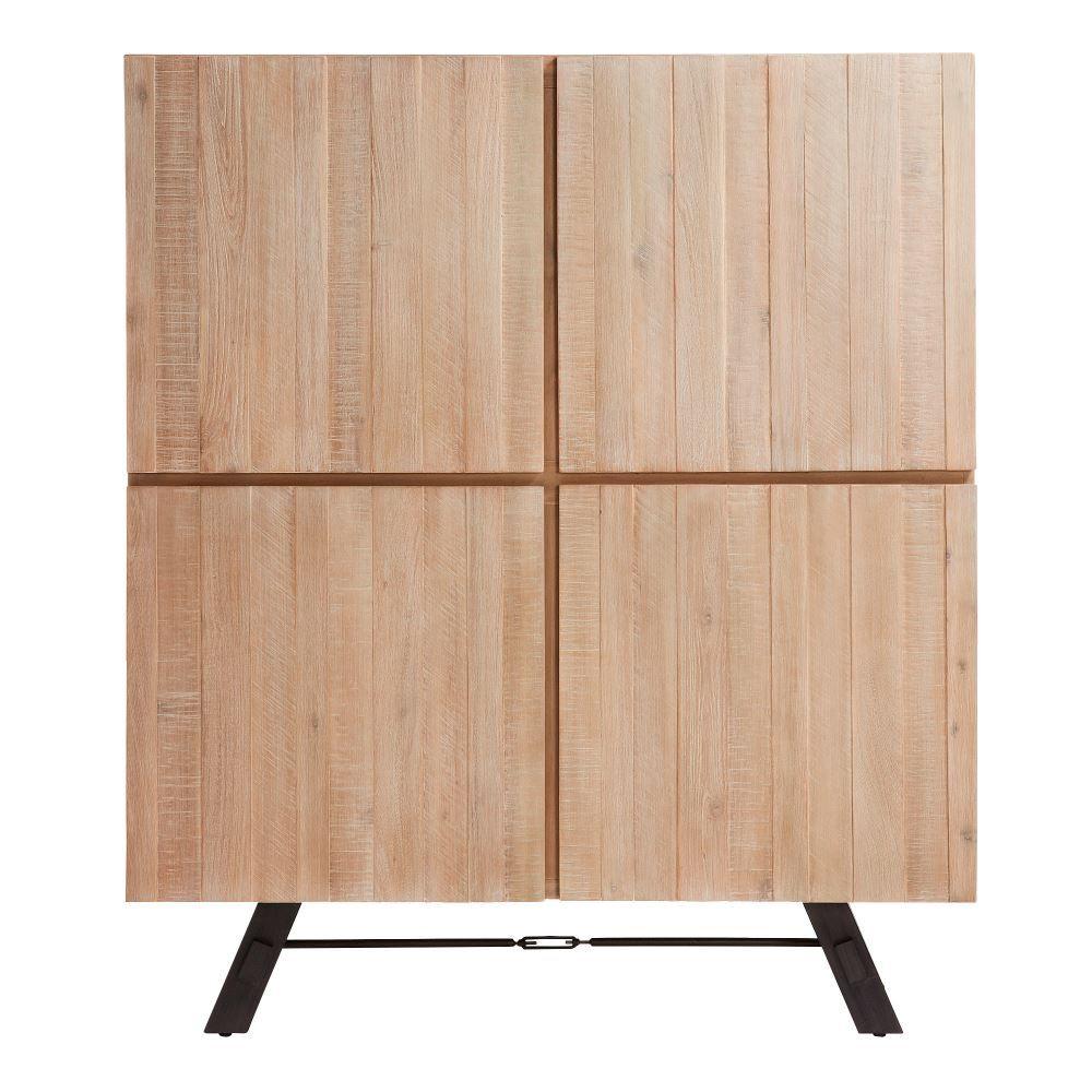 VITARGO Aparador estilo nórdico de madera de acacia con