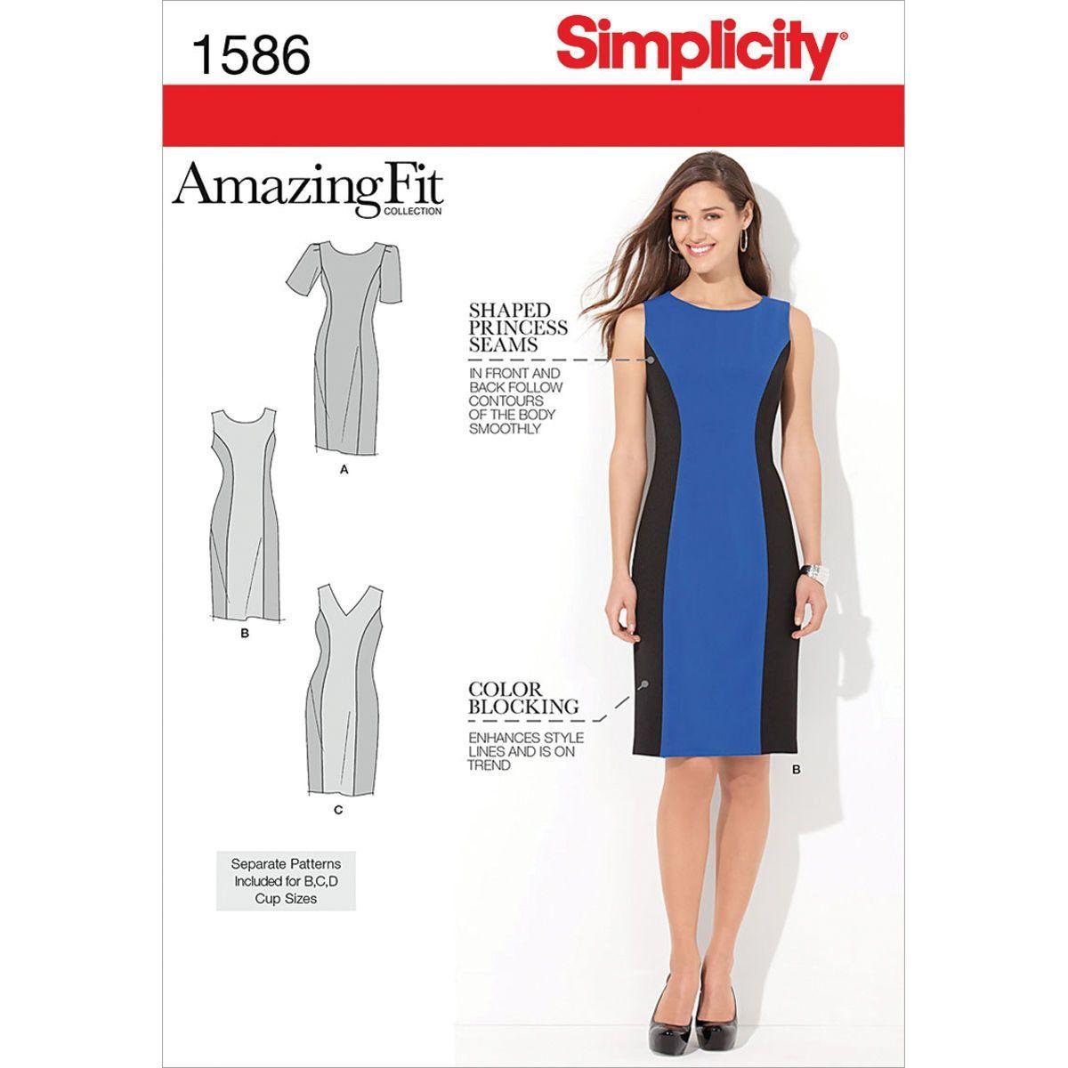 Simplicity Pattern 1586AA 10 - 12 - 14 - 1 - Misses Dresses ...
