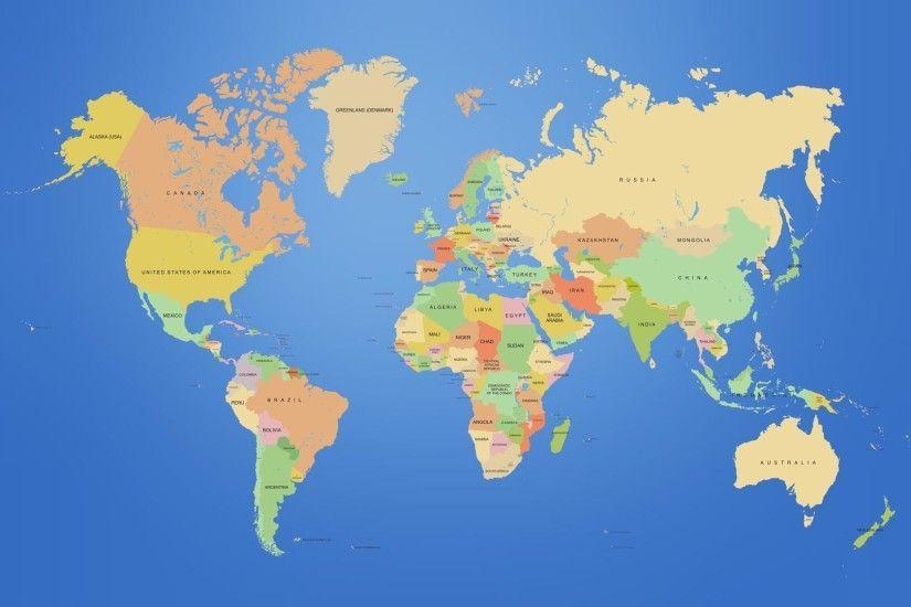 Download Free World Map Wallpaper High Resolution 1920x1080