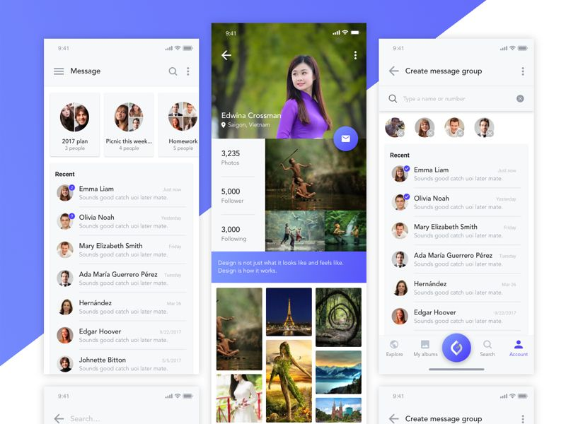 Download free UI design Moon Heart Free Adobe Xd UI Kit | UI Store