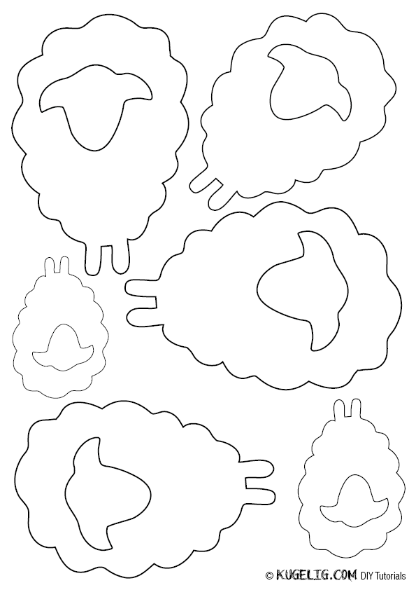 Schafherde aus Papier (mit Vorlage | coloring page spring ...
