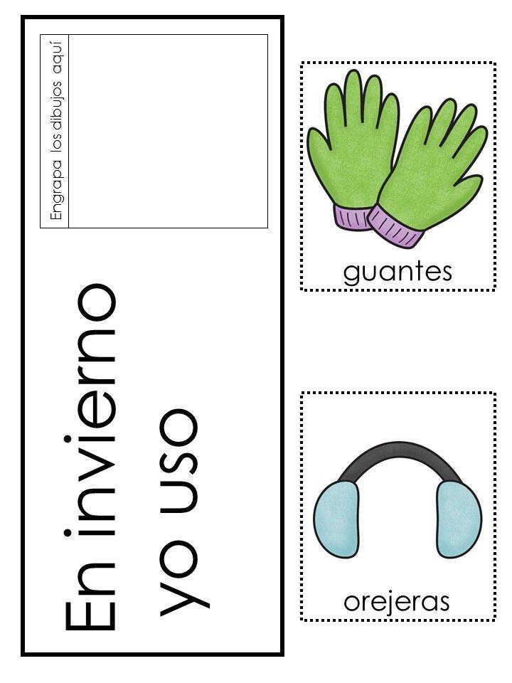winter clothes ropa de invierno preschool pack world language education resources preschool. Black Bedroom Furniture Sets. Home Design Ideas