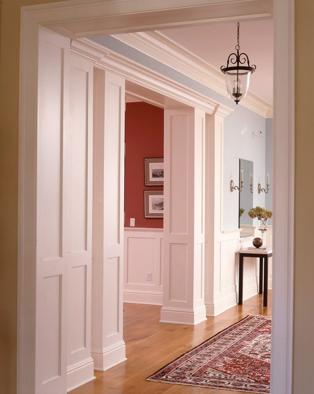 I like this paneling on the wall of the arch | columns | Pinterest ...