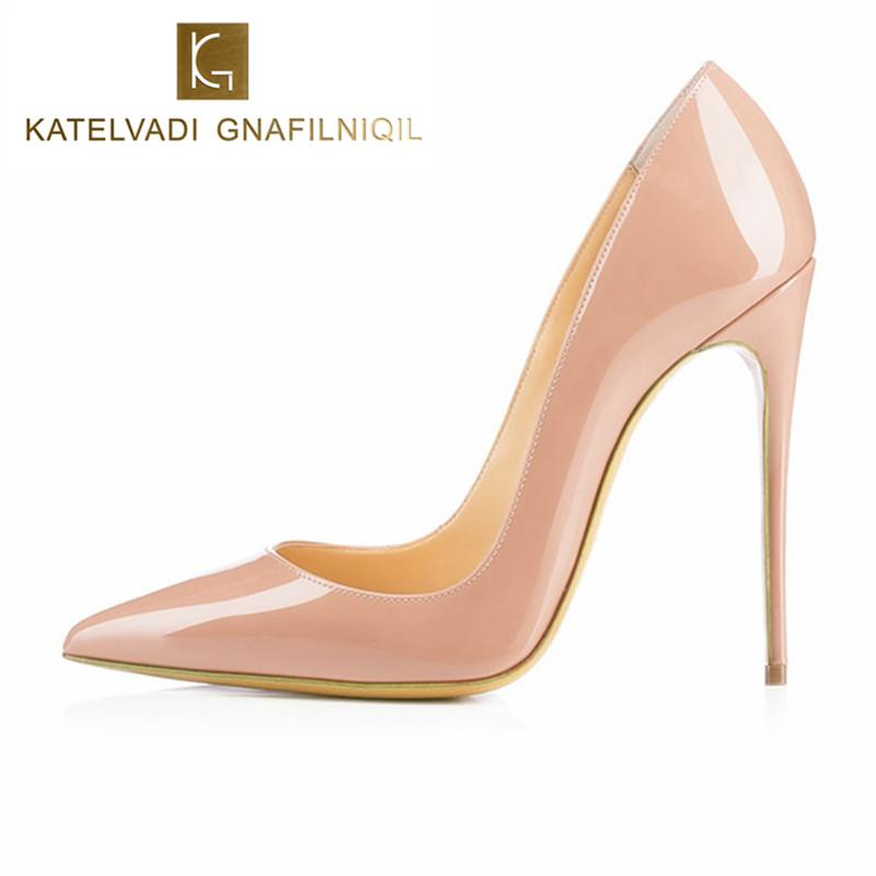 81be95cc7 Brand Shoes Woman High Heels Pumps Nude High Heels 12CM Women Shoes High  Heels WGender: WomenItem Type: PumpsPump Type: BasicLining Material:  PUStyle: ...